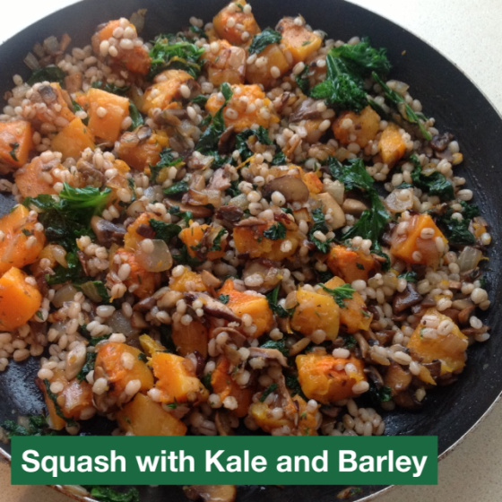Squash with Kale and Barley